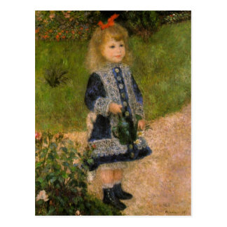 Girl with Watercan by Renoir Postcard