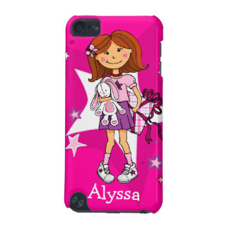 """Girlie gift cuddles hot pink """"your name"""" ipod case iPod touch (5th generation) case"""