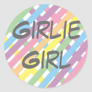 Girlie Girl Classic Round Sticker