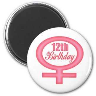 Girls 12th Birthday Gifts Magnet