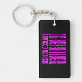 Girls 25 Birthdays Pink Worlds Coolest Twenty Five Double-Sided Rectangular Acrylic Keychain