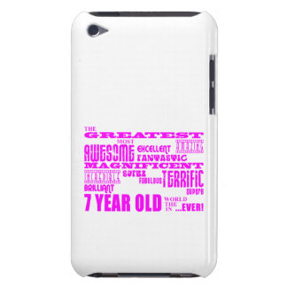 Girls 7th Birthdays : Pink Greatest 7 Year Old iPod Touch Cases