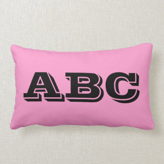 Girls ABC Pillow Pink