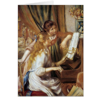 Girls at the Piano Card