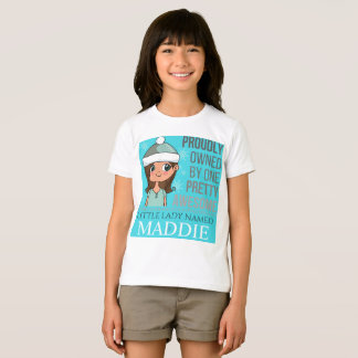 """GIRL'S """"Awesome Kid"""" Personalized Shirts"""