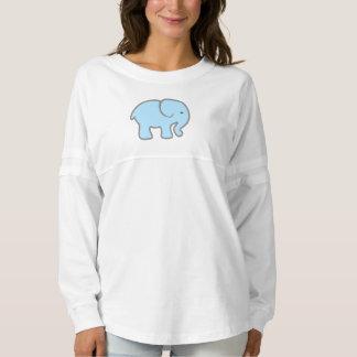 Girls Baby Blue Elephant Shirt