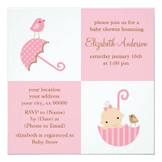 Girls Baby Shower Card