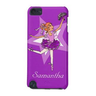 Girls ballerina purple red hair name ipod case iPod touch (5th generation) cases