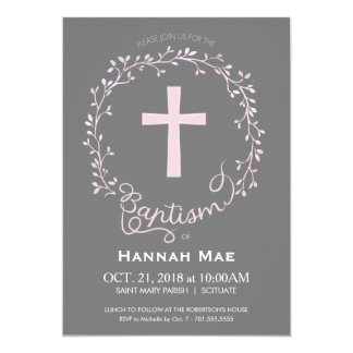 Girls Baptism Christening Invitation, Girly Invite
