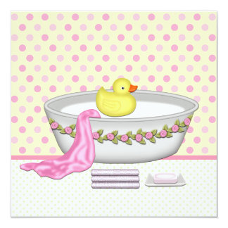 yellow rubber duck baby shower invitations announcements. Black Bedroom Furniture Sets. Home Design Ideas