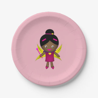 Girl's Black Fairy Paper Plates 7 Inch Paper Plate