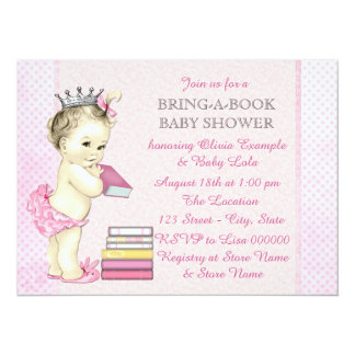 Girls Book Baby Shower Card