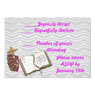 Girls Christening Book Card
