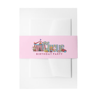 Girls Circus Invitation Belly Band