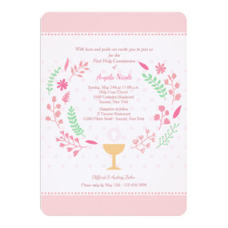 Girl's Communion Invitation