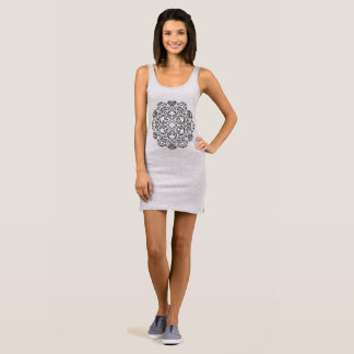 GIRLS fashion dress with Mandala art