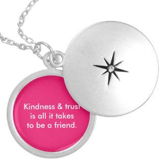 Girls Friend Medium Silver Plated Round Locket