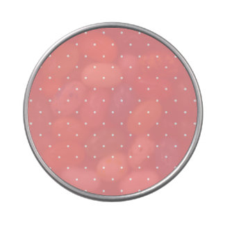 Girls Gift Coral Pink and White Dots Candy Tin