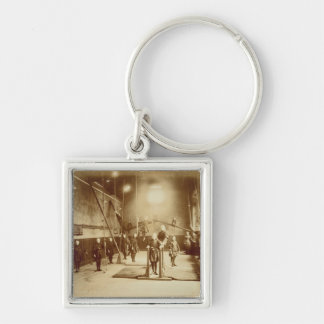 Girl's Gymnasium at the Deaf and Dumb Institution, Silver-Colored Square Key Ring