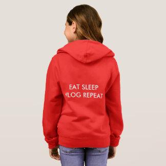 girls hoodie eat sleep
