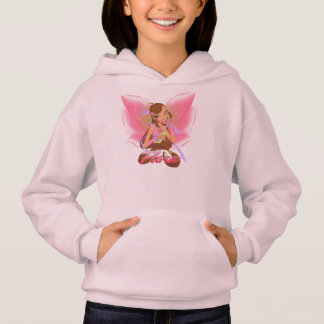 Girls' Hoodie. Pink. With Flora Winx
