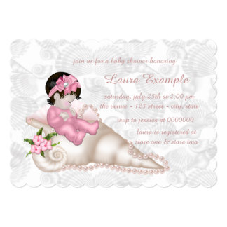 Girls Pearl Baby Shower Card
