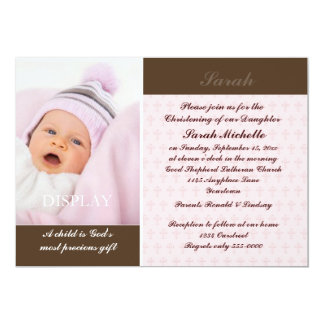 Girls Photo Christening Card