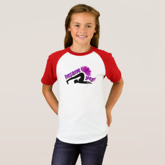 Girls' Raglan T-Shirt with Insane Yogi sign