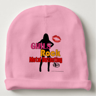 Girls Rock Metal Detecting Baby Girl Beanie Hat Baby Beanie