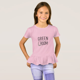 Girls Ruffle Green Room Shirt for Pianists