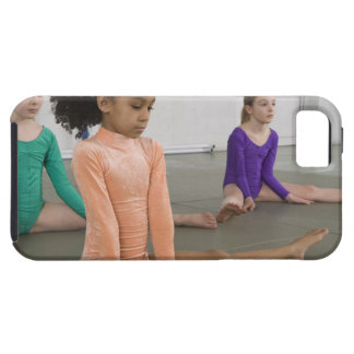 Girls stretching in gymnastics practice tough iPhone 5 case