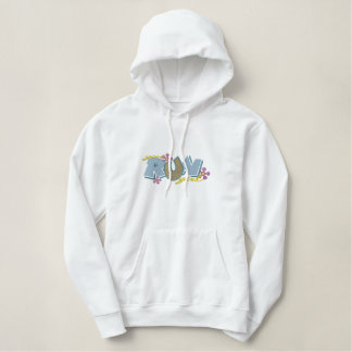 Girls Track Embroidered Hoodie