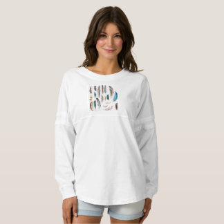 Girls tshirt with boho Feathers Spirit Jersey