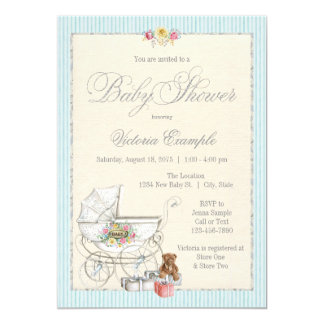 neutral vintage baby shower invitations announcements