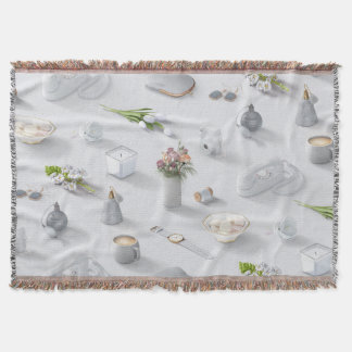 Girl's White Dream Throw Blanket
