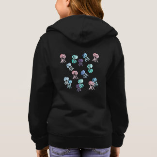 Girls' zip hoodie with watercolor jellyfishes