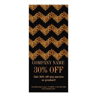 girly beauty fashion salon black chevron leopard custom rack card