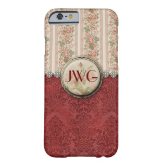 Girly Damask Monogram iPhone 6 case Barely There iPhone 6 Case