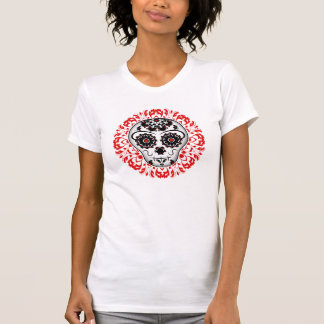 Girly day of the dead sugar skull super cute T-Shirt