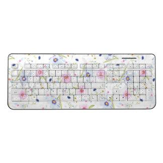 Girly floral wireless keyboard