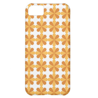 Girly Fun Orange Cris Cross Floral Flowers Pattern iPhone 5C Case