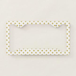 Girly Glitter Gold Polka Dots Pattern Monogram