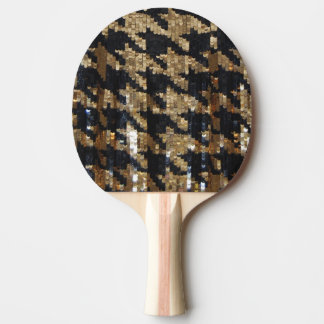 Girly Glitter Sequin Print Ping Pong Paddle