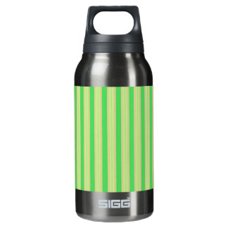Girly Green Mint Stripes Pattern Insulated Water Bottle