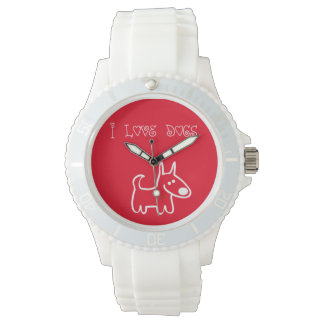 Girly I Love Dogs Watch