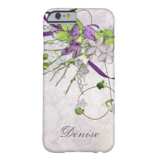 Girly iPhone 6 case Lavender Purple Sweet Peas Barely There iPhone 6 Case