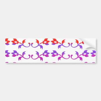 GIRLY Jewel Prints : BabySoft Color Patterns Bumper Sticker