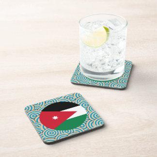 Girly Jordanian Flag Gift Coaster