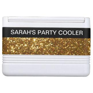 Girly Monogram Glitzy Party Chilly Bin