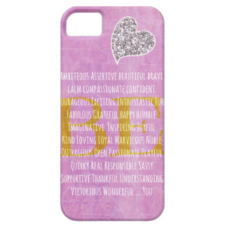 Girly Motivational Be You Quote Barely There iPhone 5 Case